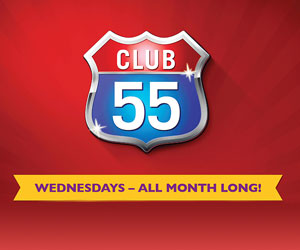 Club 55 every wednesday